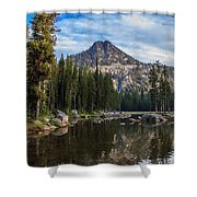 Shoreline View Of Anthony Lake Shower Curtain