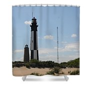 Short And Tall Cape Henry Lights Shower Curtain