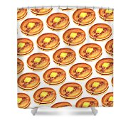 Short Stack Pattern Shower Curtain