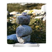 Short Stack Shower Curtain