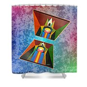 Shots Shifted - Le Pat 3 Shower Curtain
