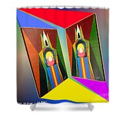 Shots Shifted - Le Pat 5 Shower Curtain