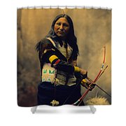 Shout At Oglala Sioux  Shower Curtain