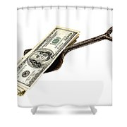Shovel Of Dollar Shower Curtain
