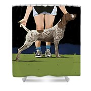 Show Day In Chestertown Shower Curtain by Marjorie Weiss
