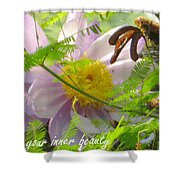 Show Your Inner Beauty Shower Curtain