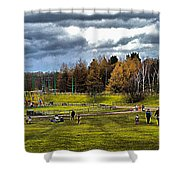 Showground Steam Carousel Shower Curtain