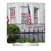 Showing The Flag Usa Shower Curtain