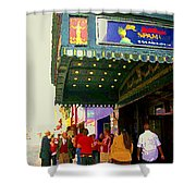 Showtime Toronto's Broadway Monty Python Spamalot Theatre District The Plays The Thing City Scenes Shower Curtain