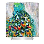 Showy Peacock Shower Curtain