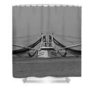 Shrimp Boat - Bw Shower Curtain