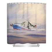 Shrimp Boat On The Gulf Shower Curtain