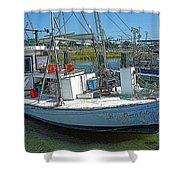 Shrimp Boat - Southern Catch Shower Curtain