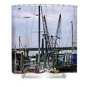 Shrimp Boats At Lazaretto Creek Shower Curtain
