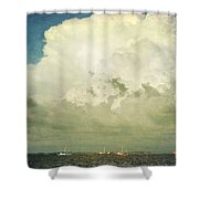Shrimp Boats Headed Out Shower Curtain