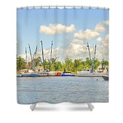 Shrimp Boats In Georgetown Sc Shower Curtain