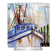 Shrimp Fishing Boat Shower Curtain