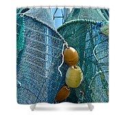 Shrimp Net Close Up Shower Curtain