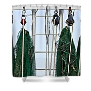 Shrimp Nets Shower Curtain