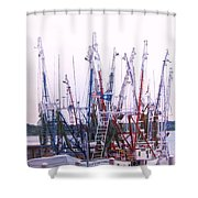 Shrimpers On The Shem Shower Curtain