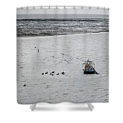Shrimping In Mobile Bay Shower Curtain