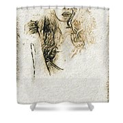 Shroud Of A Lady Shower Curtain