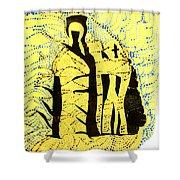 Shroud Of Jesus Shower Curtain