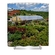 Shrubbery At A Greenhouse Shower Curtain