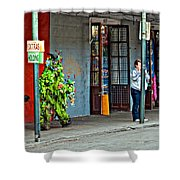 Shrubman On The Move Shower Curtain