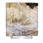 Shrubs In The Rapids #2 Shower Curtain