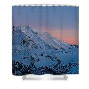 Shuksan Sunset Panorama Shower Curtain