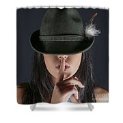 Shush  Shower Curtain