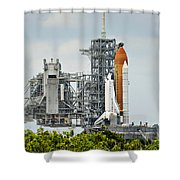 Shuttle Endeavour Is Prepared For Launch Shower Curtain
