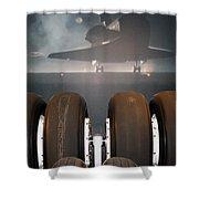 Shuttle Tires Shower Curtain