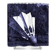 Shuttlecock Blues Shower Curtain