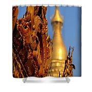 Shwe Dagon Pagoda Shower Curtain