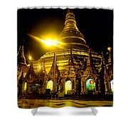 Shwedagon Paya - Yangoon Shower Curtain