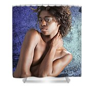 Chynna African American Nude Girl In Sexy Sensual Photograph And In Color 4786.02 Shower Curtain