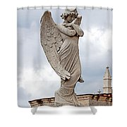 Shy Angel Shower Curtain