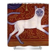 Siamese Cat Runner Shower Curtain