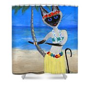 Siamese Queen Of Hawaii Shower Curtain
