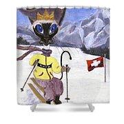 Siamese Queen Of Switzerland Shower Curtain