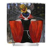 Siamese Queen Of Transylvania Shower Curtain by Jamie Frier