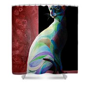 Siamese Shadow 2 Shower Curtain