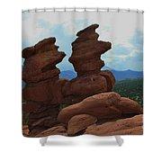 Siamese Twins Garden Of The Gods Colorado Shower Curtain