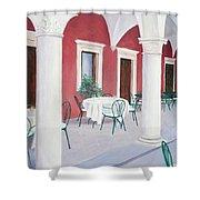 Sibenik Cafe Croatia Shower Curtain