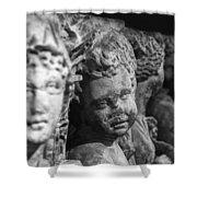 Sidamara Sarcophagus Shower Curtain by Taylan Apukovska