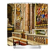 Side Altar In St Peters Basicilca Shower Curtain