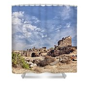 Side Ancient Archaeological Remains Shower Curtain