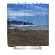 Side By Side Along The Beach Shower Curtain